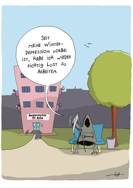 Thomas Luft, Cartoon, Lustig, Depression