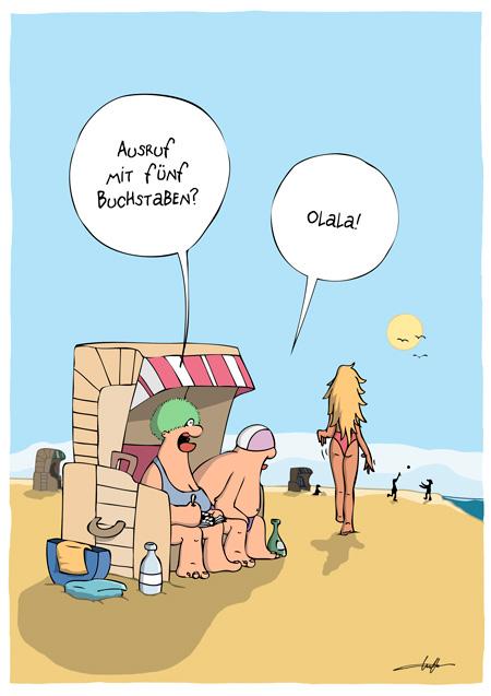 Strandkorb comic  Urlaub Archive - Cartoonalarm