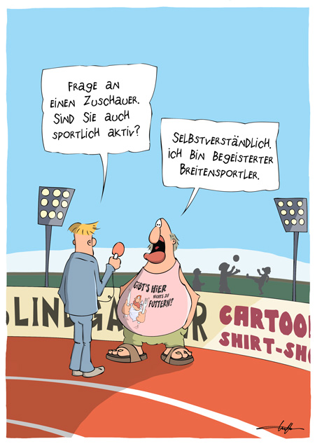 Thomas Luft, Cartoon, Lustig, Breitensport