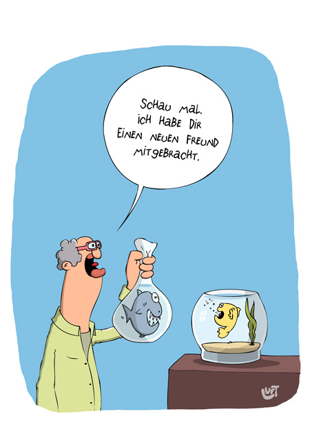 Thomas Luft, Cartoon, Lustig, Freund