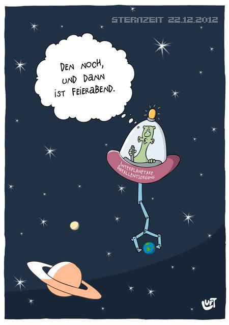 Thomas Luft, Cartoon, Lustig, Weltraummüll