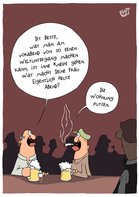 Thomas Luft, Cartoon, Lustig, Hausputz