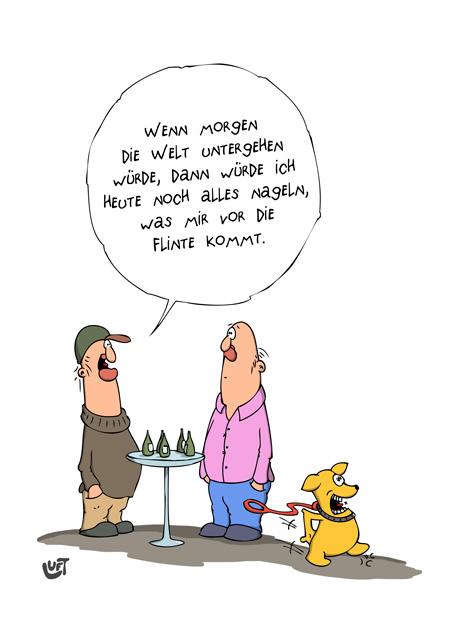 Thomas Luft, Cartoon, Lustig, Nageln
