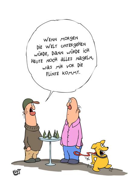 Thomas Luft, Cartoon, Lustig, Nageln