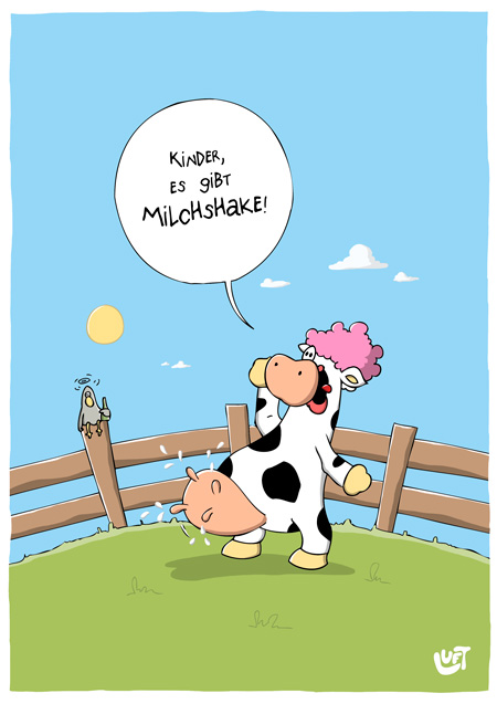 Thomas Luft, Cartoon, Lustig, Milchshake