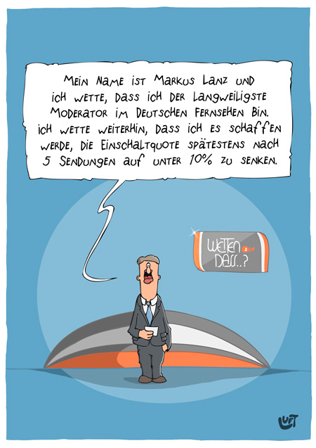 Thomas Luft, Cartoon, Lustig, Markus Lanz