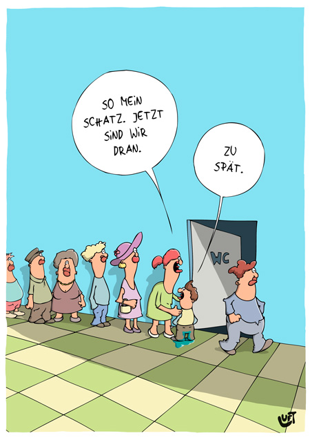 Thomas Luft, Cartoon, Lustig, WC