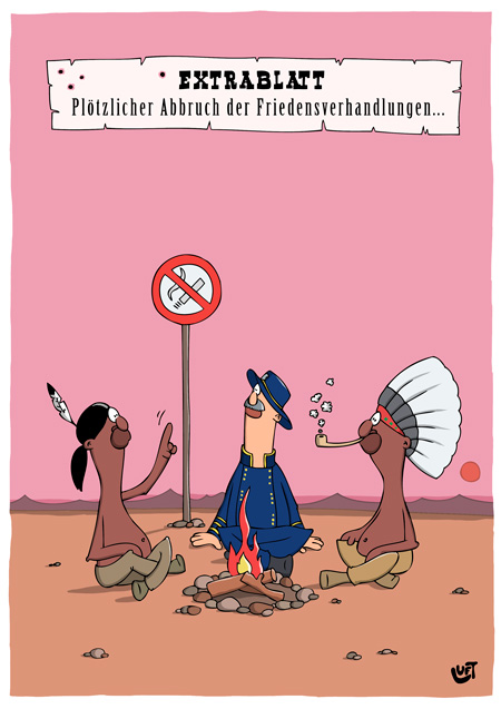 Thomas Luft, Cartoon, Lustig, Rauchverbot