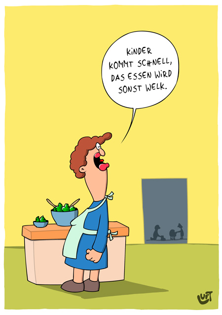 Thomas Luft, Cartoon, Lustig,  Vegetarier