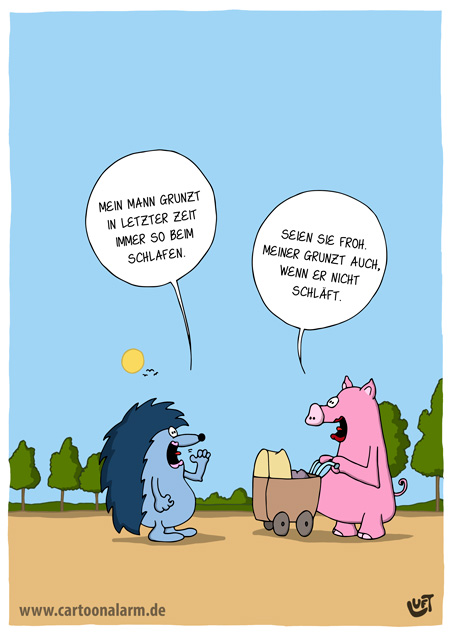 Thomas Luft, Cartoon, Lustig, Schlafen