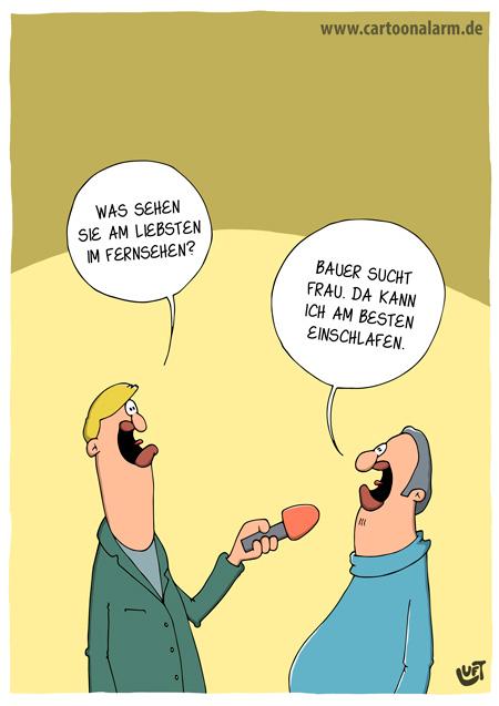 Thomas Luft, Cartoon, Lustig, Bauer sucht Frau