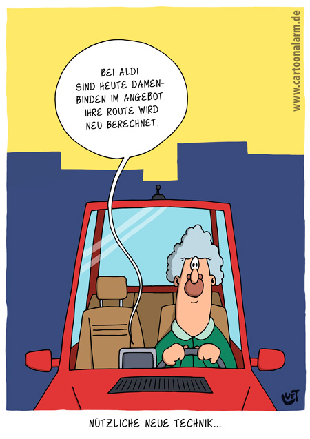Thomas Luft, Cartoon, Lustig, Route