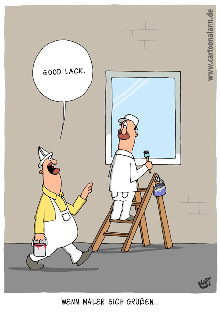 Thomas Luft, Cartoon, lustig, Begrüßung