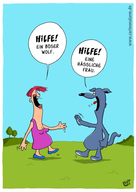 Thomas Luft, Cartoon, lustig, böser Wolf