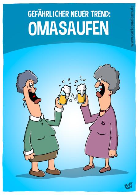 Thomas Luft, Cartoon, lustig, Alkohol