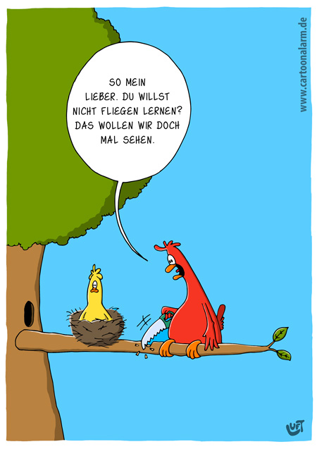 Thomas Luft, Cartoon, lustig, fliegen