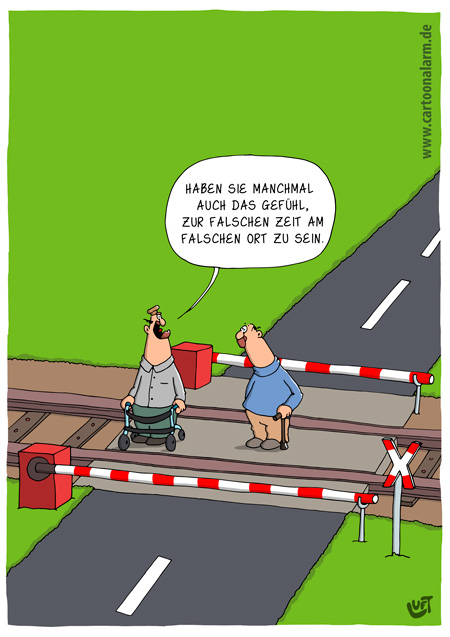Thomas Luft, Cartoon, lustig, Falscher Ort