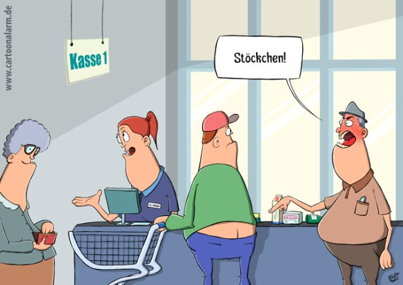 Thomas Luft, Cartoon, lustig, Stöckchen