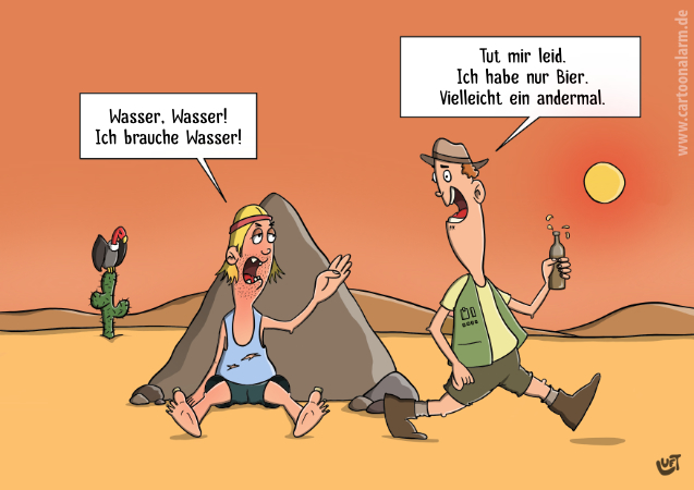 Thomas Luft, Cartoon, lustig, Wasser