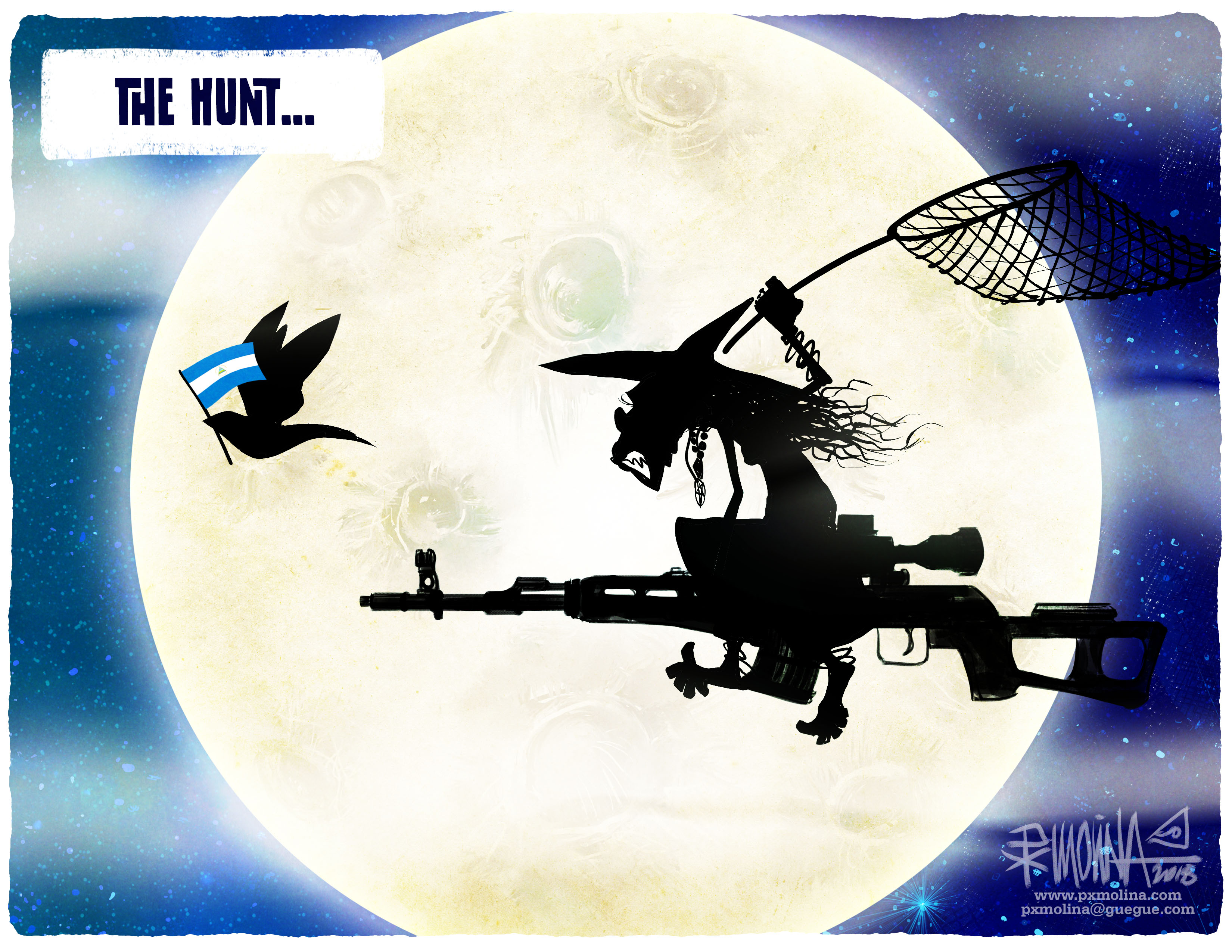 Molina cartoon the hunt