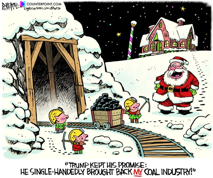 Trump Brings Back Coal by Rick McKee, Counterpoint