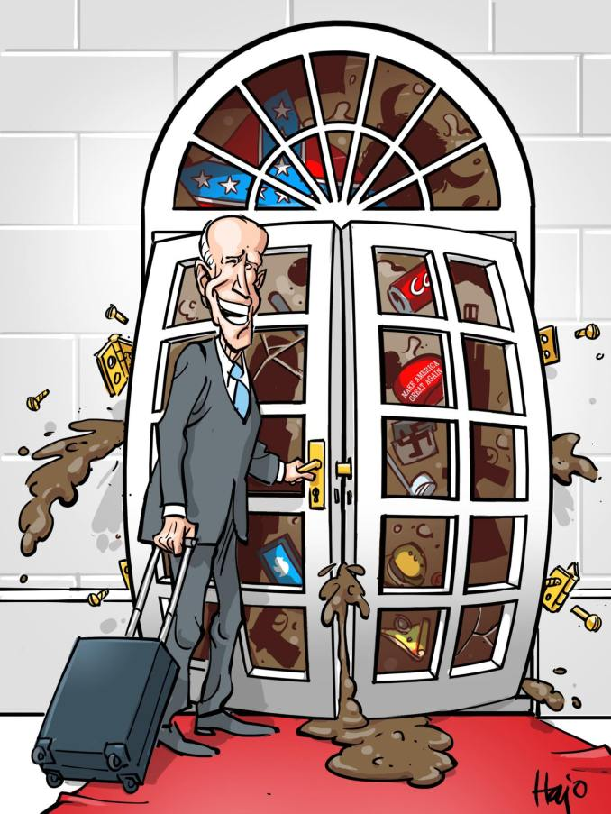 Biden Enters the White House by Hajo de Reijger, The Netherlands
