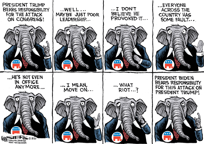 Elephants Never Remember by Kevin Siers, The Charlotte Observer, NC