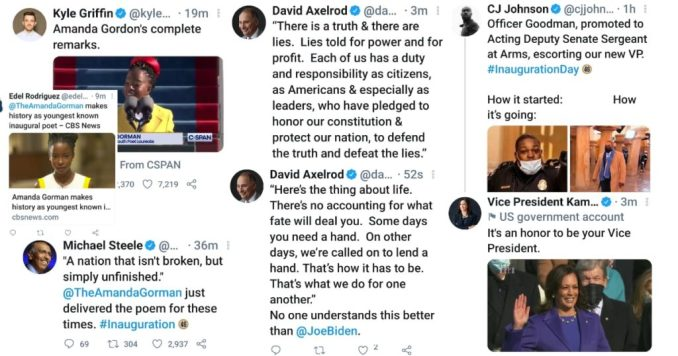 More Twitter reaction to the Biden-Harris Inauguration