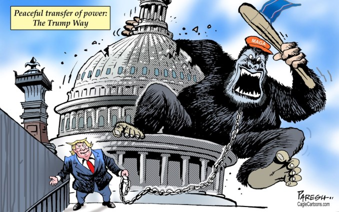 Pro-Trump rioters at US Capitol by Paresh Nath, U.T. Independent, India