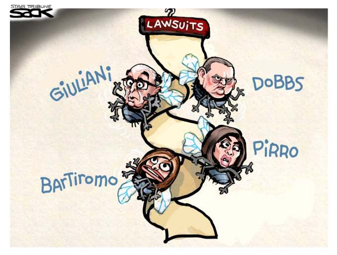 Election Lawsuits by Steve Sack, The Minneapolis Star-Tribune, MN