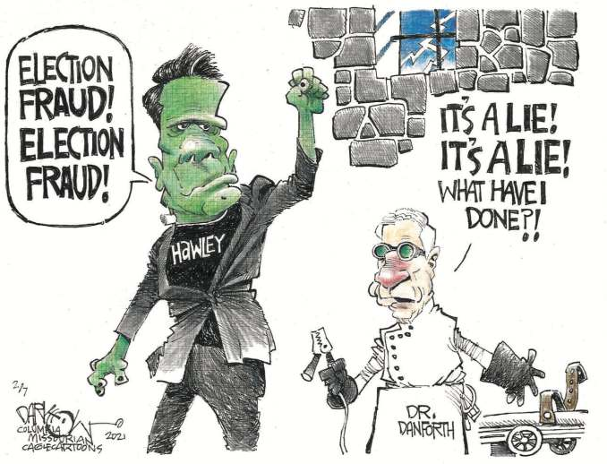 Franken Hawley by John Darkow, Columbia Missourian