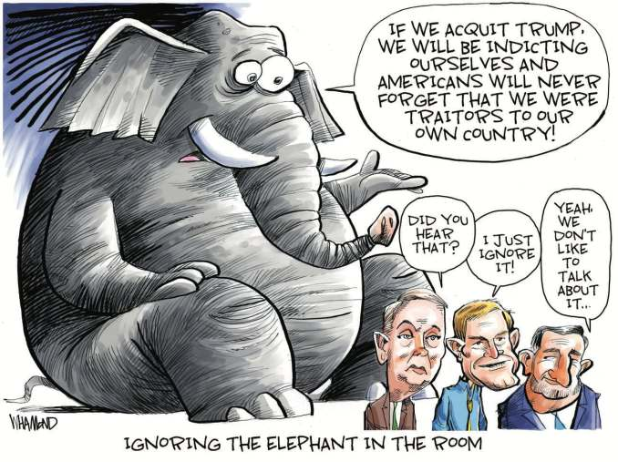 Ignoring the Elephant in the Room by Dave Whamond, Canada, PoliticalCartoons.com