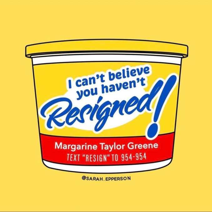 Margarine I Can't Believe You Haven't Resigned by The Lincoln Project @ProjectLincoln