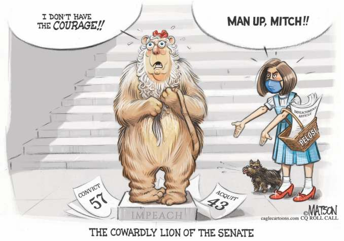 Mitch McConnell Cowardly Lion REVISED by R.J. Matson, CQ Roll Call