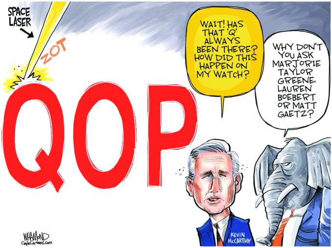 QOP - the new Greene party by Dave Whamond, Canada, PoliticalCartoons.com