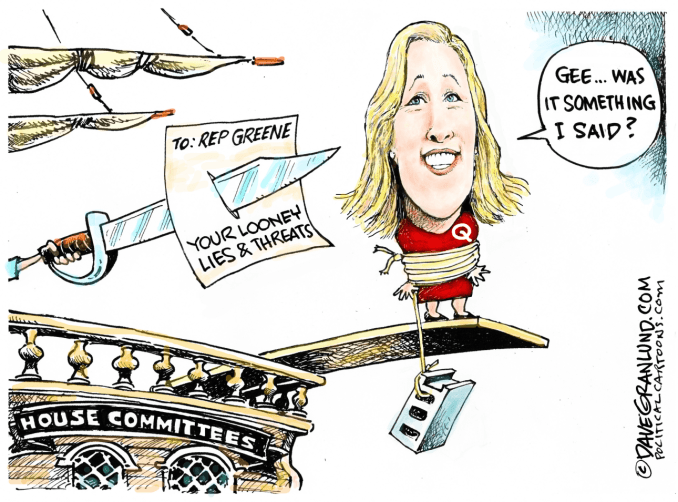 Rep Greene Punished by Dave Granlund, PoliticalCartoons.com