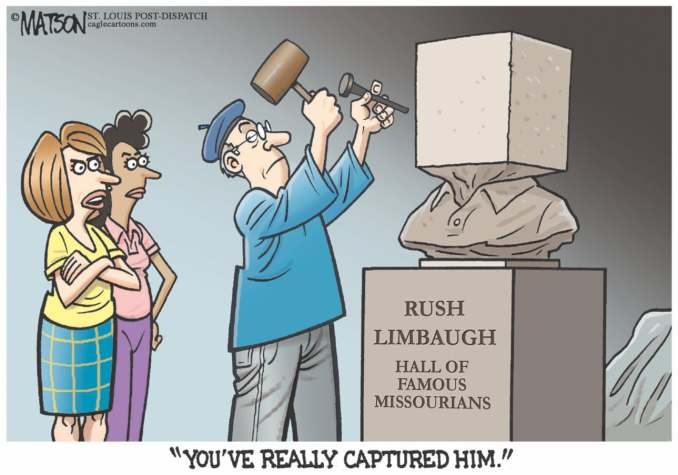 Rush Limbaugh Blockhead by R.J. Matson, 2012 CagleCartoons.com