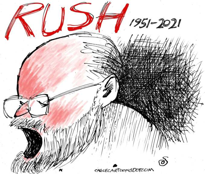 Rush Limbaugh by Randall Enos, 2021 Easton, CT
