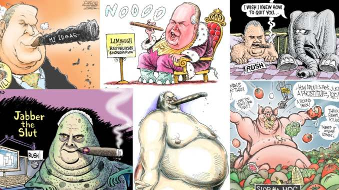 Rush Limbaugh's Toxic Legacy in Cartoons