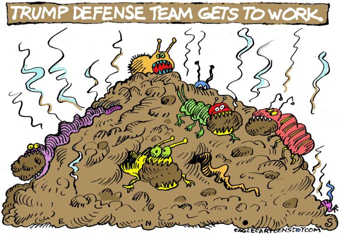 Trump Defense Team by Randall Enos, Easton, CT