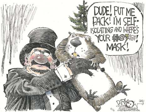 Where's your dang mask? by John Darkow, Columbia Missourian