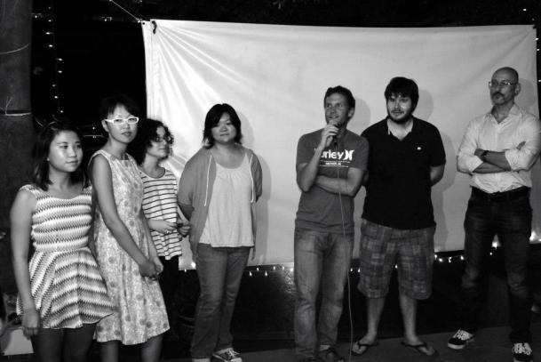 From left to right: Vicky Chen, YY, Diana Tantillo, Jen Yoon, Patrick Smith, Tripp Yeoman