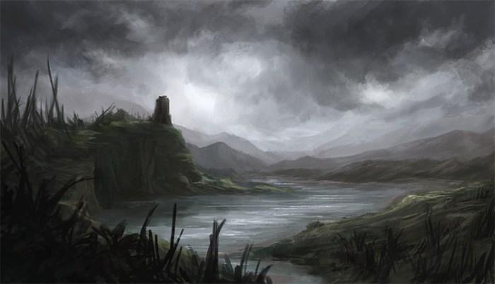 Resultado de imagem para swamp creatures medieval painting