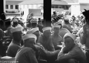 Recruits gather on Sunday at the Geedunk, 1954, San Diego NRTC