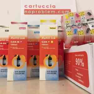 5 CARTUCCE RICARICABILI PER HP 364 + 500ML INCHIOSTRO