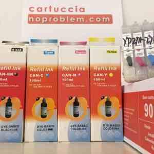 CARTUCCE RICARICABILI AUTORESET PER EPSON SERIE T2711 + 400ML INCHIOSTRO