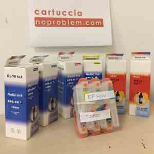 CARTUCCE RICARICABILI AUTORESET PER EPSON T801 + 600ML INCHIOSTRO