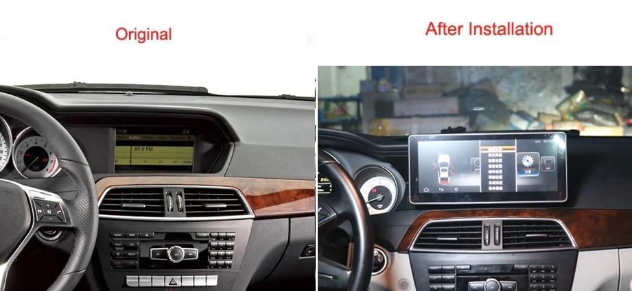 Android screen for Mercedes-Benz C class W204 - CARTUNES