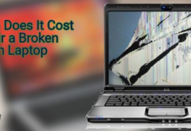 How much does it cost to repair a broken screen laptop