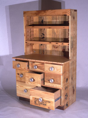 Reclaimed Skid Cabinet from Cartwright Design in Portland